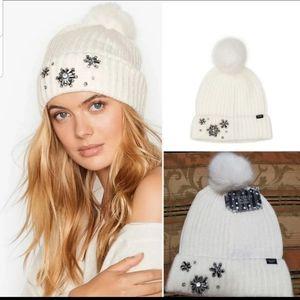 ❄ New VS WINTER HAT BEANIE WHITE BLING